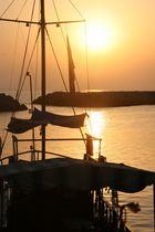 Sonnenuntergang im Hafen von Side