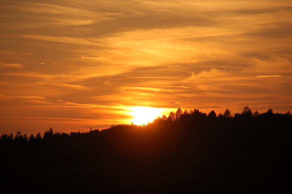 Sonnenuntergang im Herbst 2
