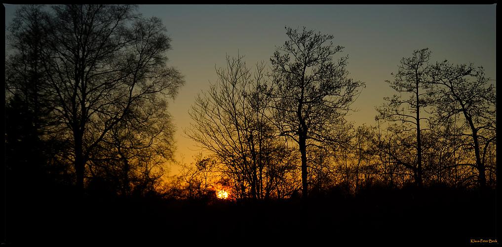 Sonnenuntergang im Hohen Venn