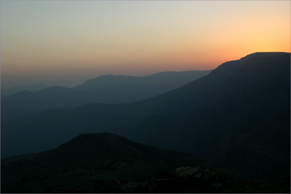Sonnenuntergang im Jebel Harim