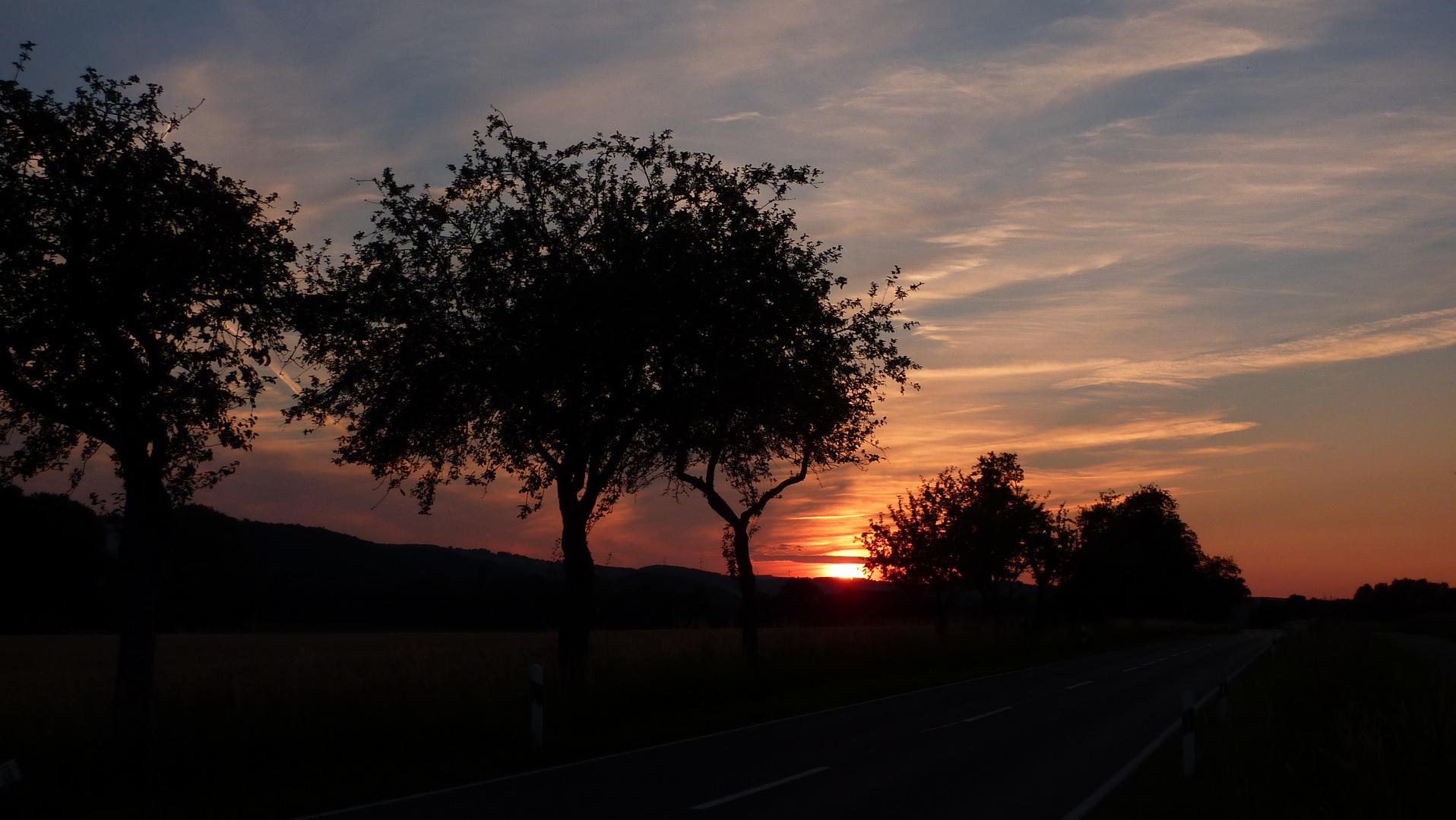 Sonnenuntergang im Juni 2014
