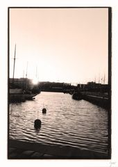 Sonnenuntergang im Kieler Hafen