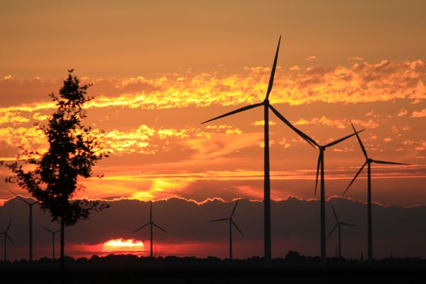 Sonnenuntergang im Kreis Heinsberg