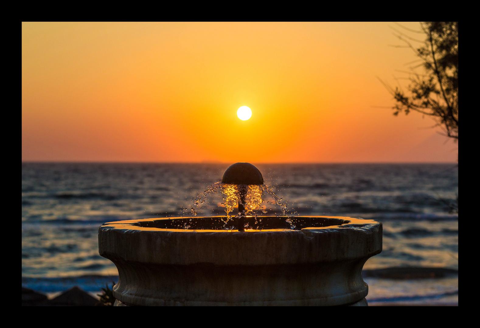 Sonnenuntergang im Kyllini Beach Resort