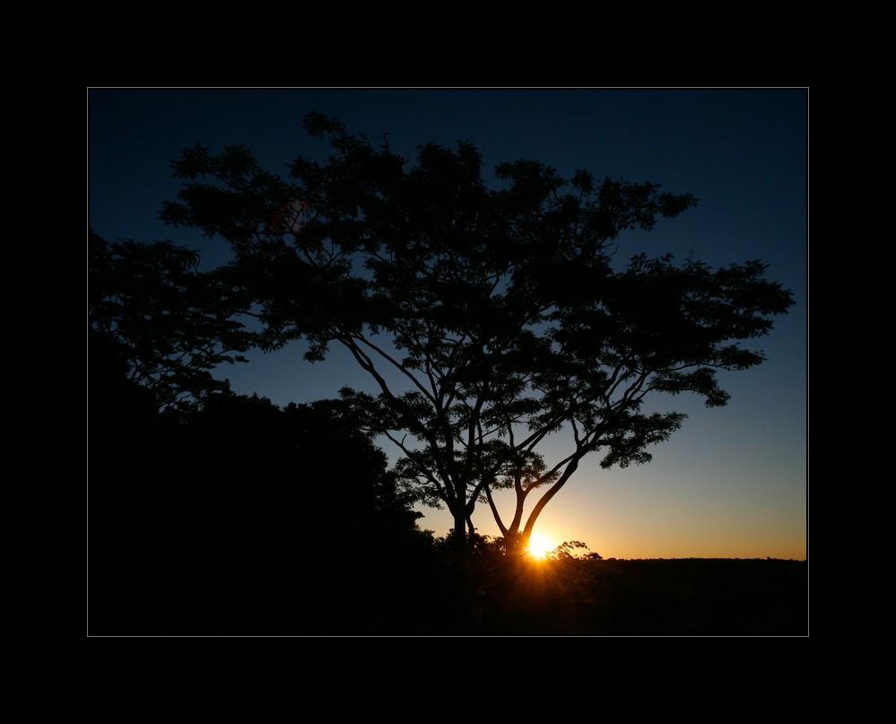 Sonnenuntergang im Länderdreieck Argentinien-Brasilien-Paraguay