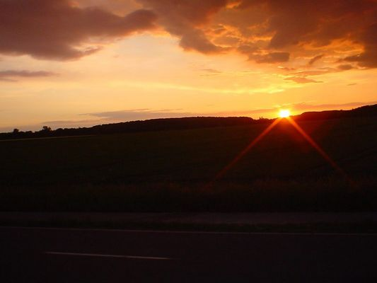 Sonnenuntergang im Mai