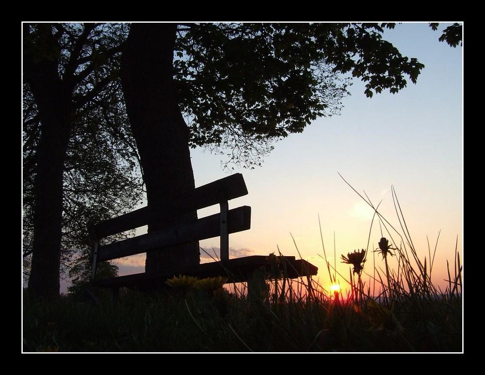 Sonnenuntergang im Mai 2