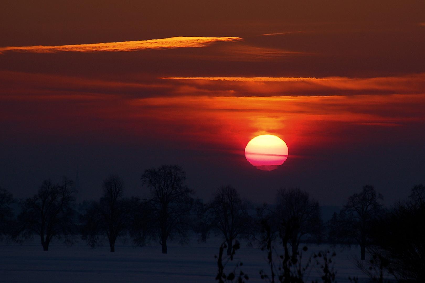 Sonnenuntergang im Maintal