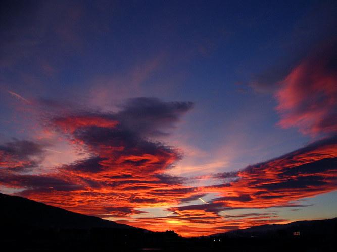 Sonnenuntergang im Mürztal