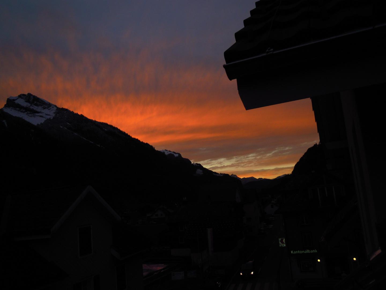Sonnenuntergang im Muotathal