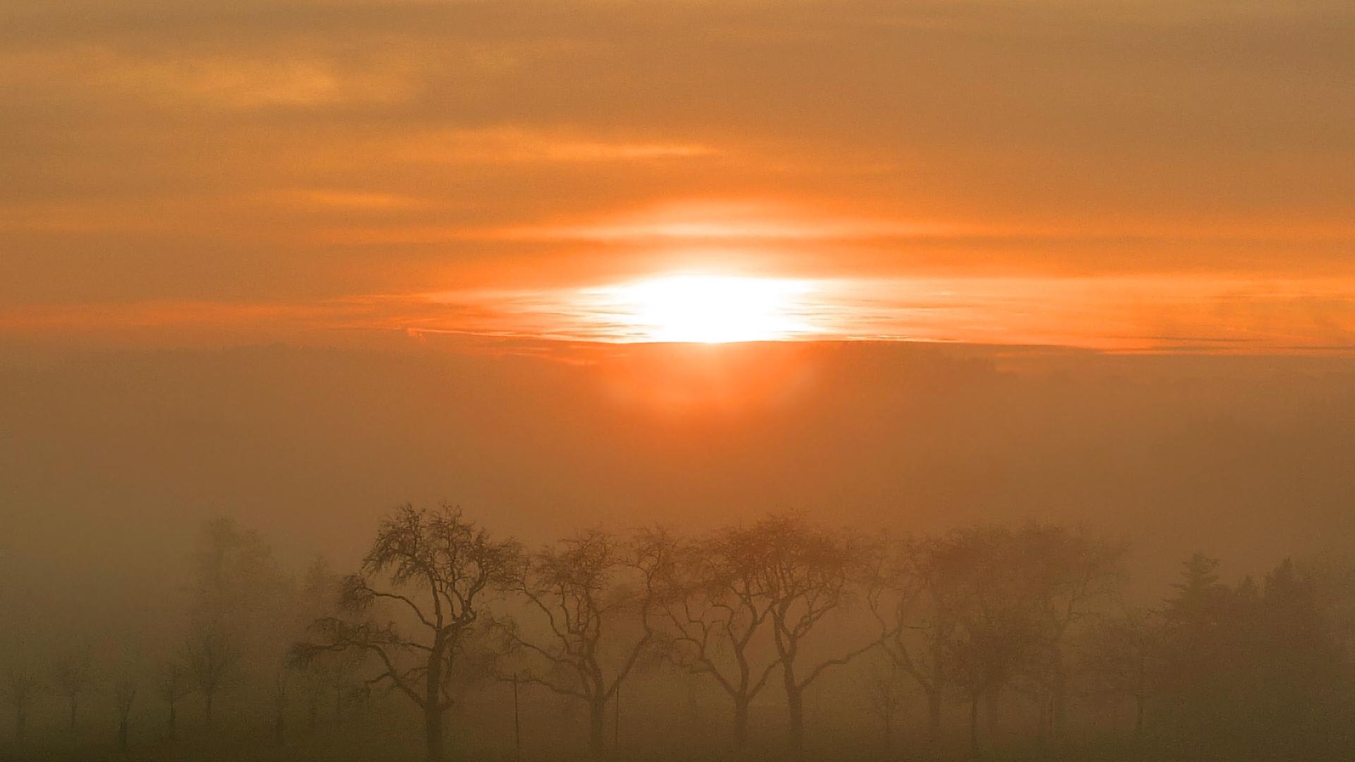 Sonnenuntergang im Nationalpark Bayerischer Wald 2