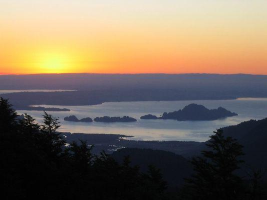 Sonnenuntergang im Nationalpark Puyehue