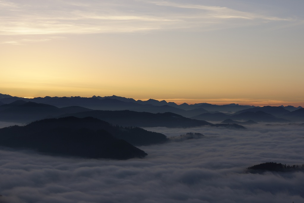Sonnenuntergang im Nebelsee 2