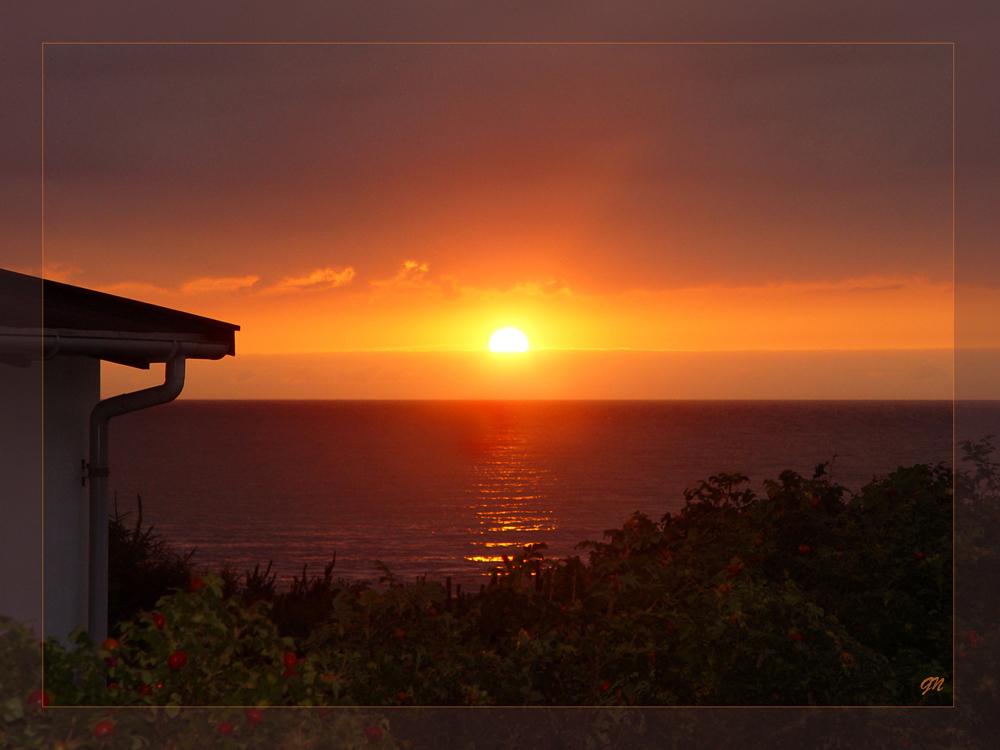 Sonnenuntergang im nördlichen Seeland -Kattegat 2-