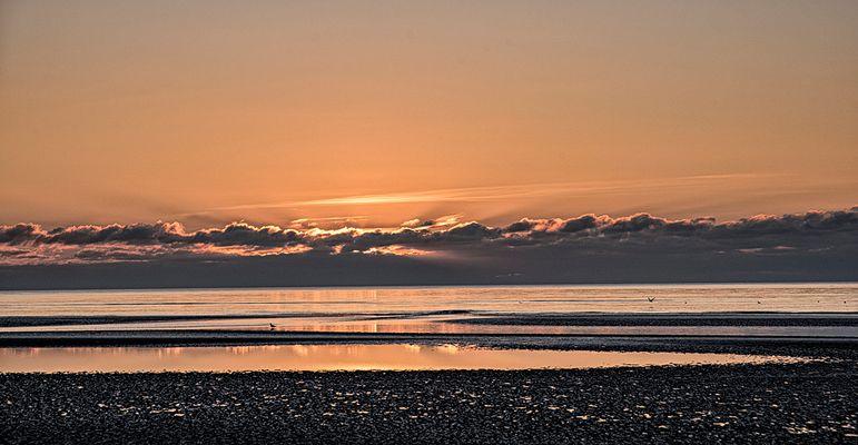 Sonnenuntergang im November auf Römö