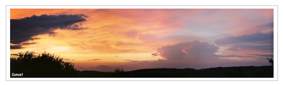 Sonnenuntergang im Oberbergischen Kreis