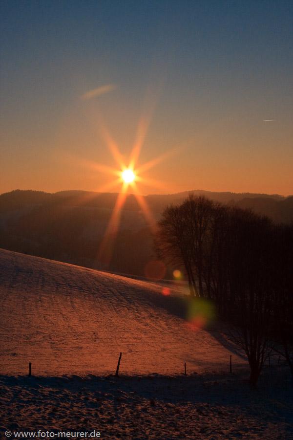 Sonnenuntergang im Odenwald
