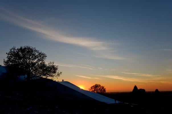 Sonnenuntergang im OlyPark