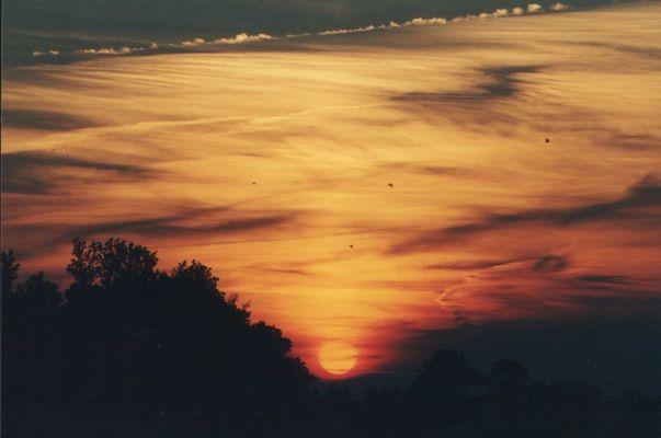 Sonnenuntergang im Ostfriesland