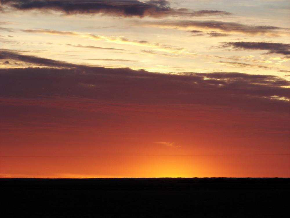 Sonnenuntergang im Outback