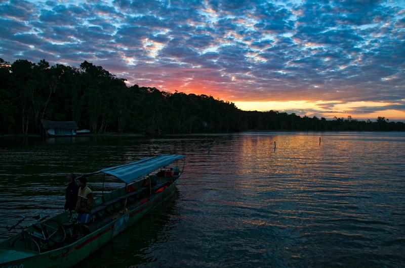 Sonnenuntergang im Palmarium Reserve