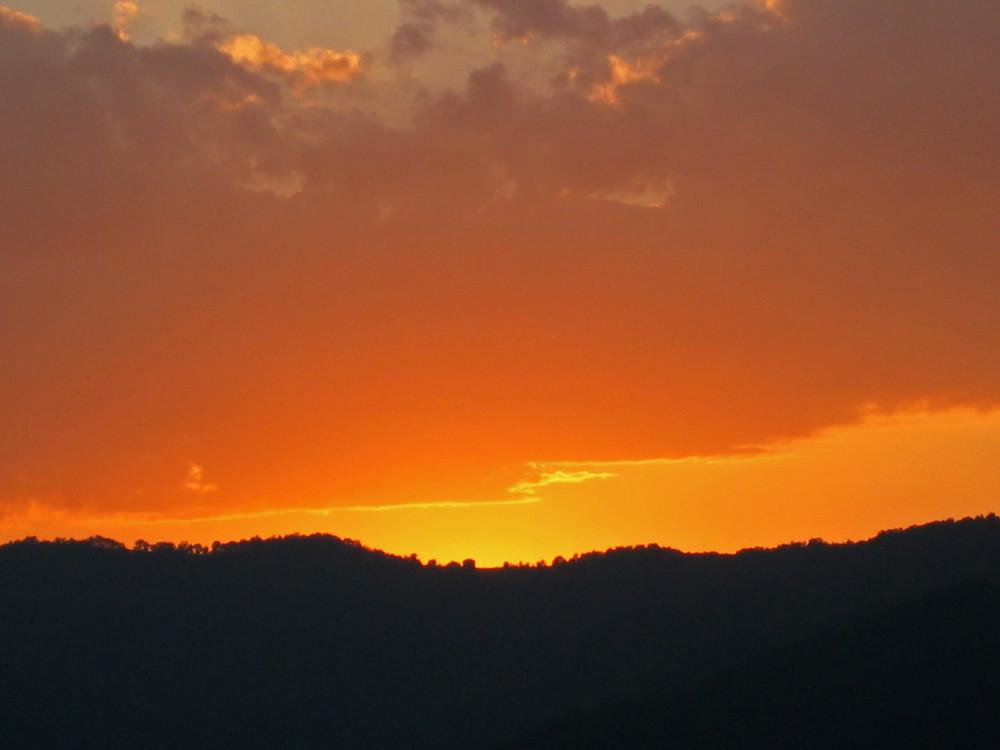Sonnenuntergang im Piemont