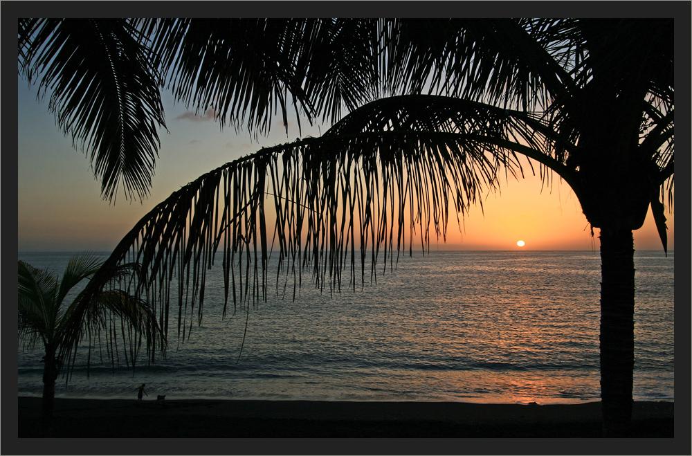Sonnenuntergang im Puerto Naos