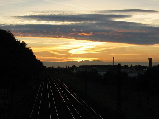 Sonnenuntergang im Revier