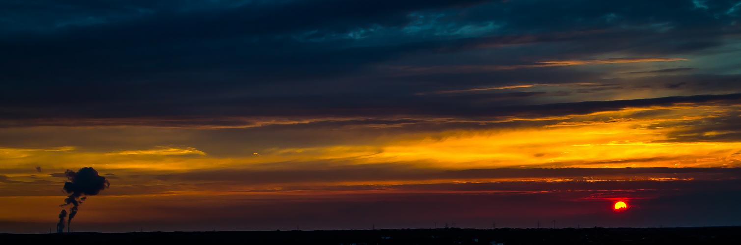 Sonnenuntergang im Ruhrgebiet