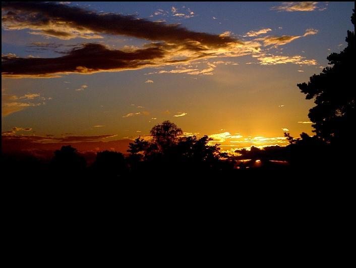 Sonnenuntergang im Sachsenland