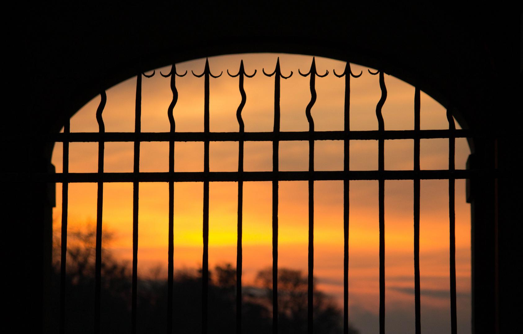 Sonnenuntergang im Schloß Nymphenburg