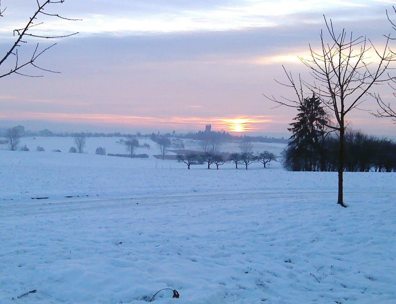 Sonnenuntergang im Schnee