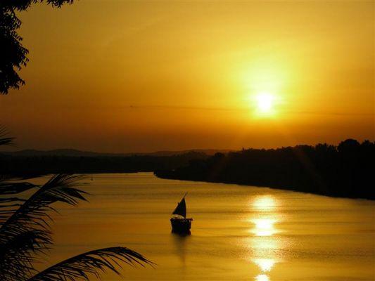 Sonnenuntergang im schönen Kenia