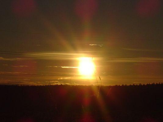 Sonnenuntergang im Schwobenländle