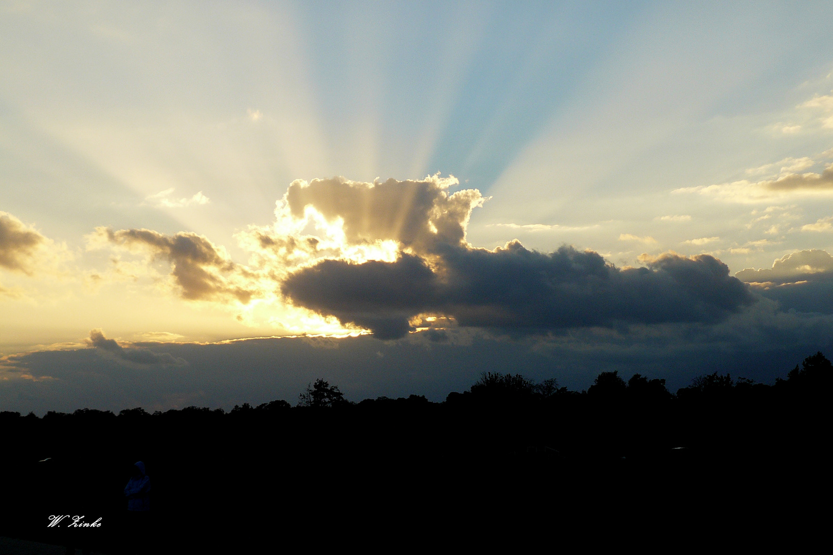 Sonnenuntergang im September auf dem Darß