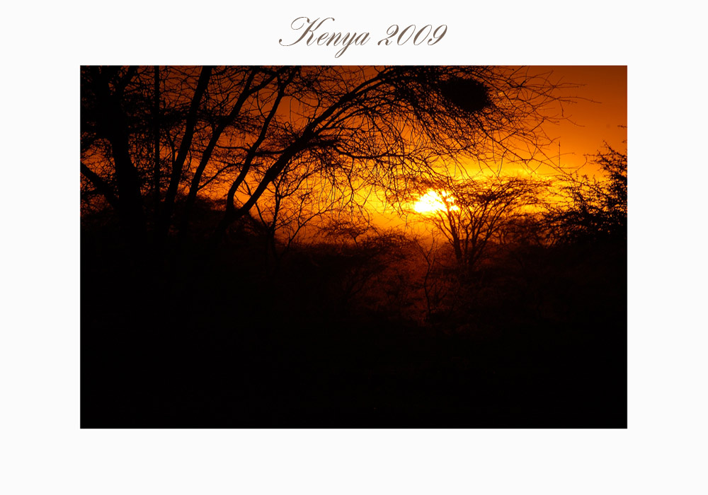 Sonnenuntergang im Severin Camp in Kenia