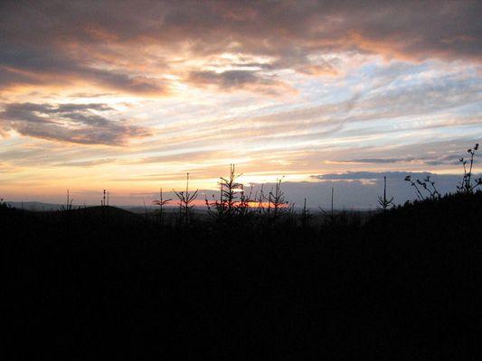 Sonnenuntergang im Siegerland