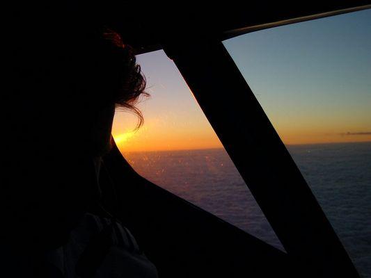 Sonnenuntergang im Sinkflug1