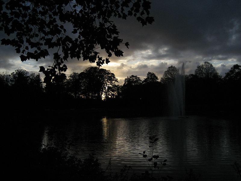 Sonnenuntergang im Stadtpark