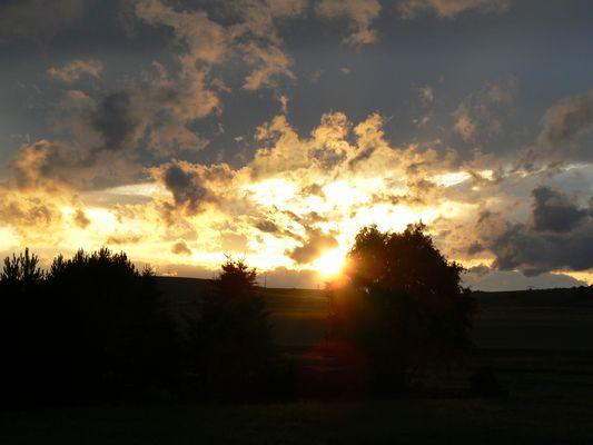 Sonnenuntergang im Südharz