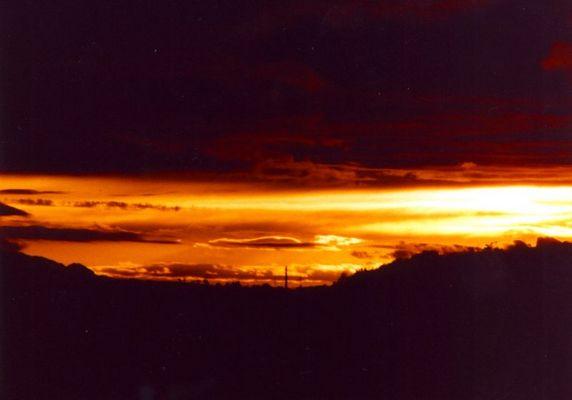 Sonnenuntergang im Tal
