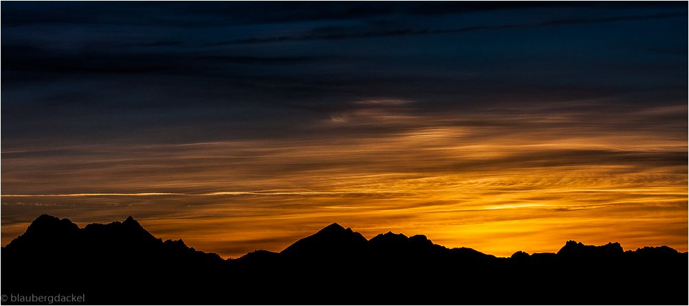 Sonnenuntergang im Vorkarwendel
