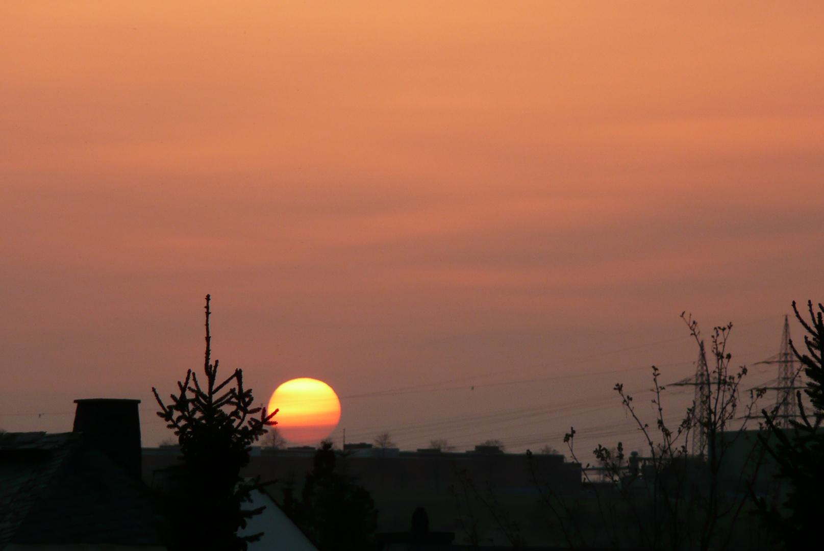 "Sonnenuntergang im "" Vulkanstaub """