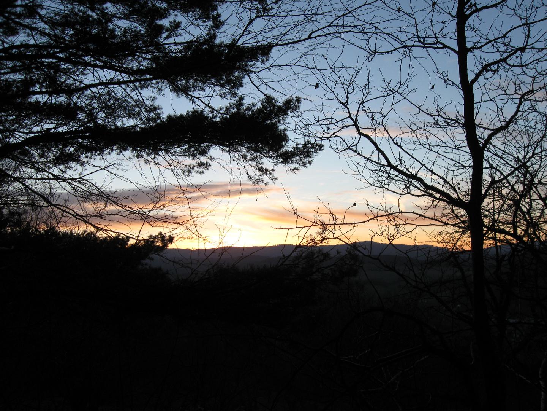 Sonnenuntergang im Werratal
