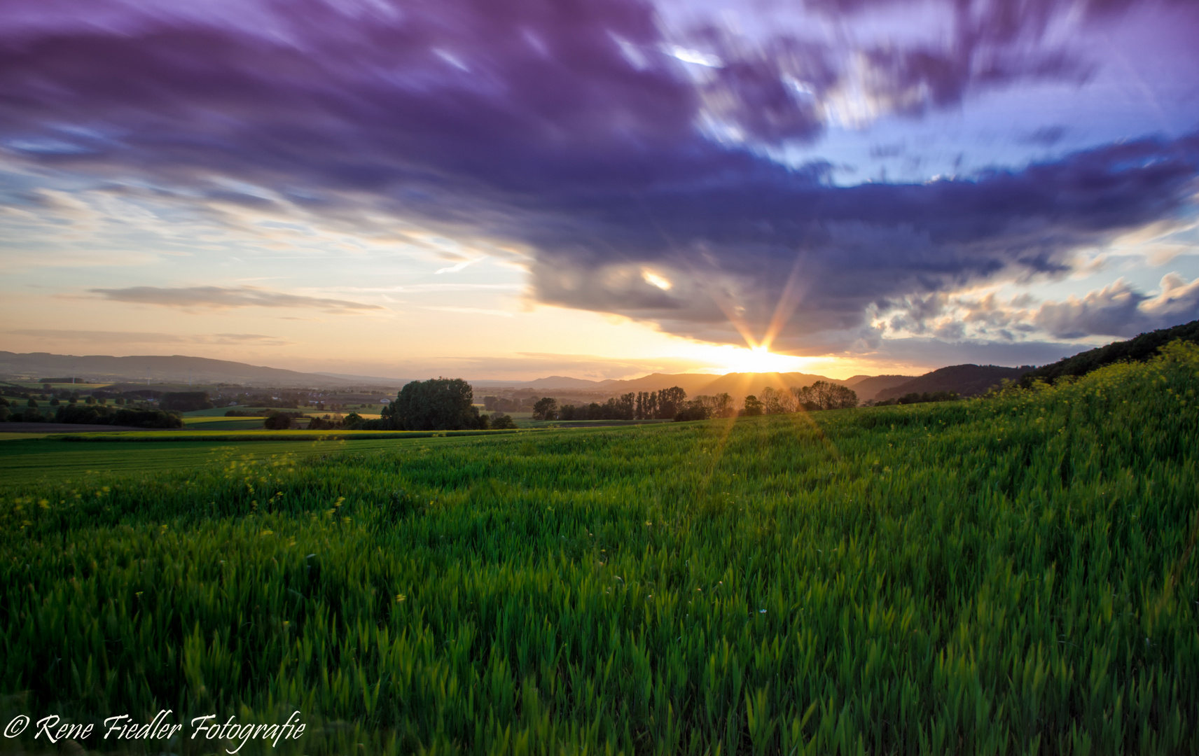 Sonnenuntergang im Weserbergland