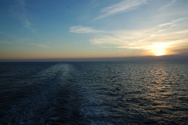 Sonnenuntergang im westl. Mittelmeer