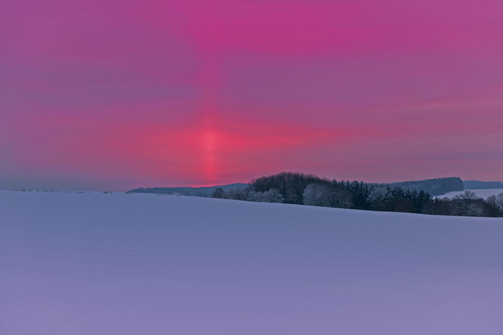 Sonnenuntergang im Wittelsbacher Land