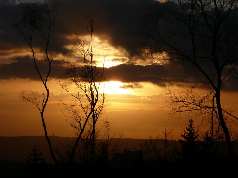 ... Sonnenuntergang in Aachen...