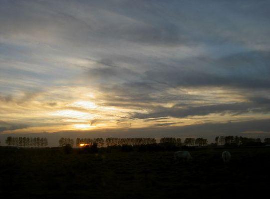 Sonnenuntergang in Aardenburg