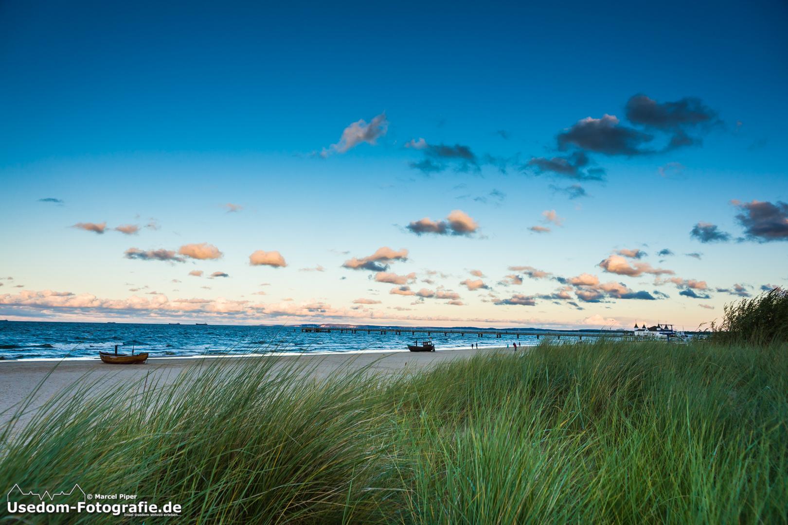 Sonnenuntergang in Ahlbeck auf der Insel Usedom am 28.09.2013